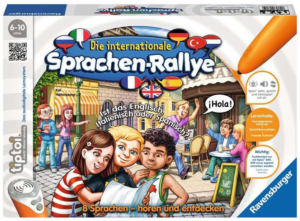 Die internationale Sprachen-Ralley -  Ravensburger tiptoi®