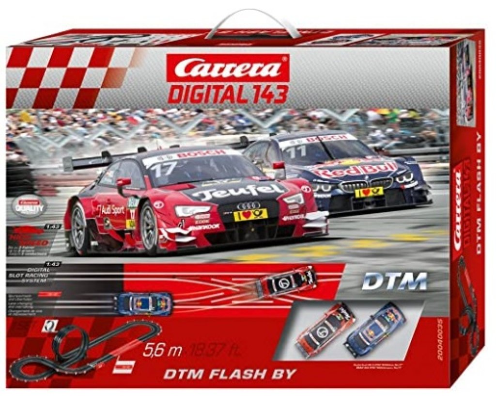 Carrera Autorennbahn Go Digital 143 DTM Flash By