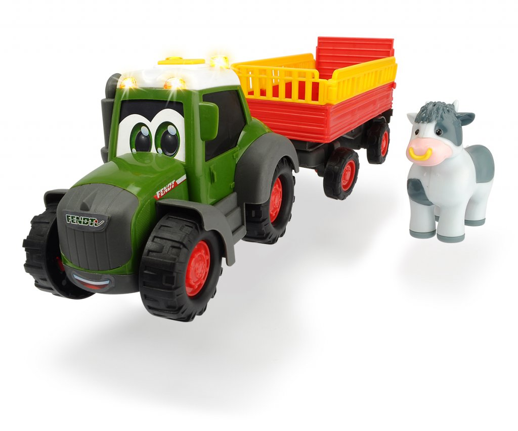 Happy Fendt Animal Trailer Kuh   - Dickie Toys