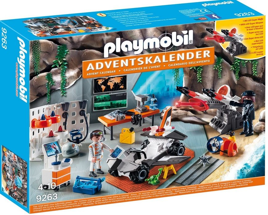 Adventkalender Spy Team Werkstatt  - Playmobil